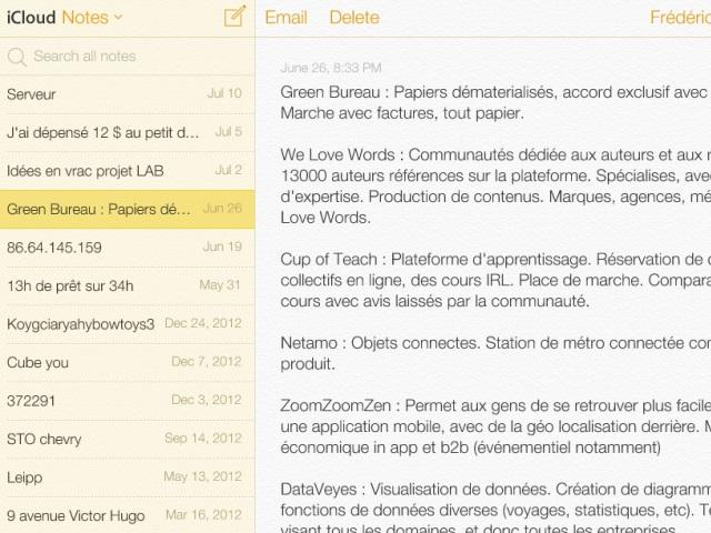 Nouvelle interface iCloud bêta : une sixième capture