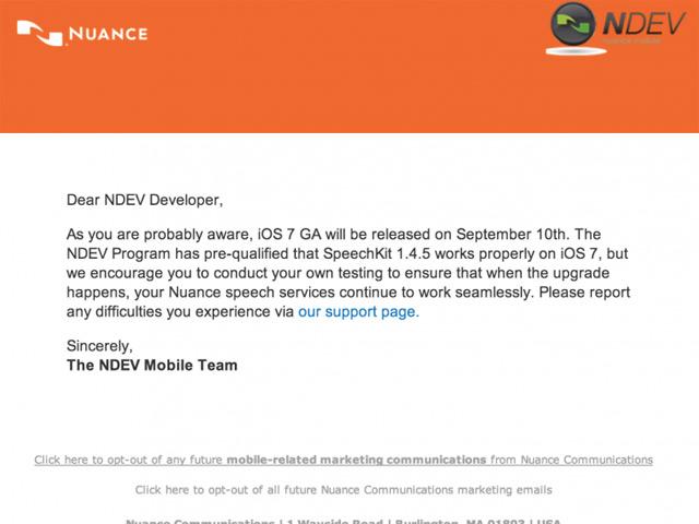 Nuance iOS 7