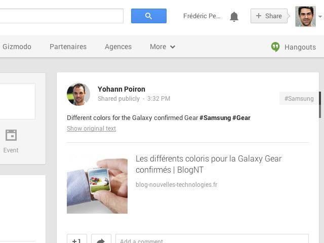 Traducteur Google+