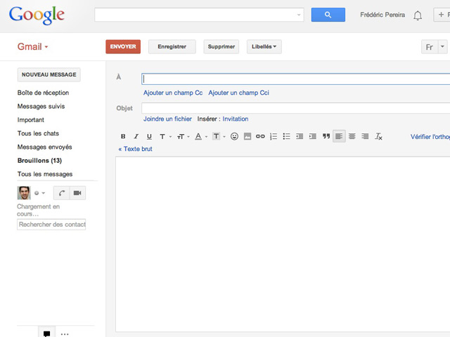 Retrouver ancien mode rédaction Gmail