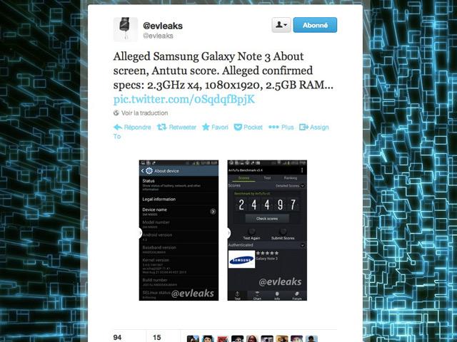 Benchmark Samsung Galaxy Note 3