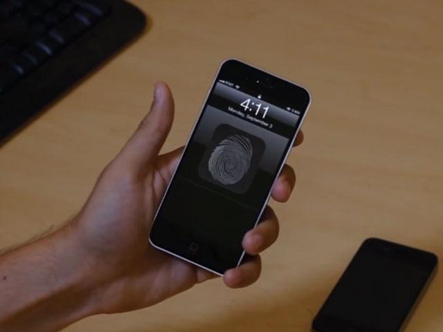 Concept lecteur empreintes iPhone 5S