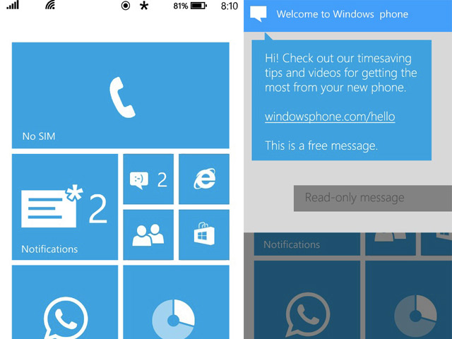 Fonctions Windows Phone 8.1
