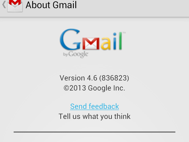 Gmail pour Android en version 4.6