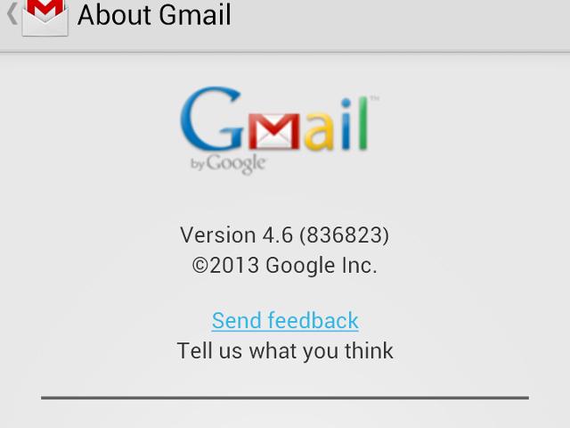 Gmail pour Android en version 4.6