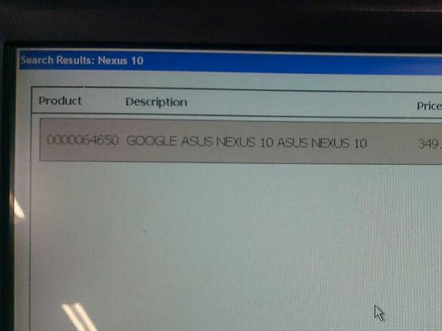 Google Asus Nexus 10 2013