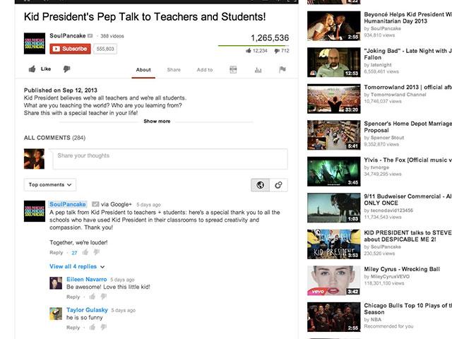Google+ dans YouTube