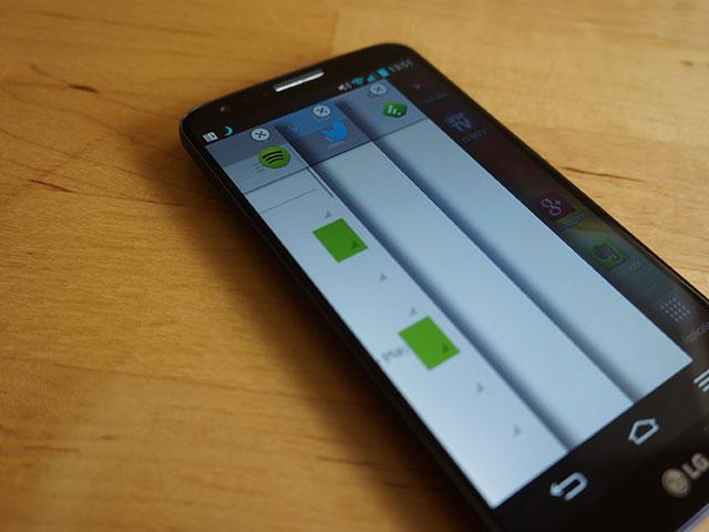 LG G2 : les applications mises de côté