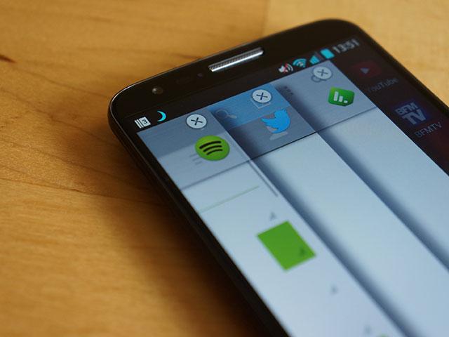 LG G2 : fermer les applications mises de côté