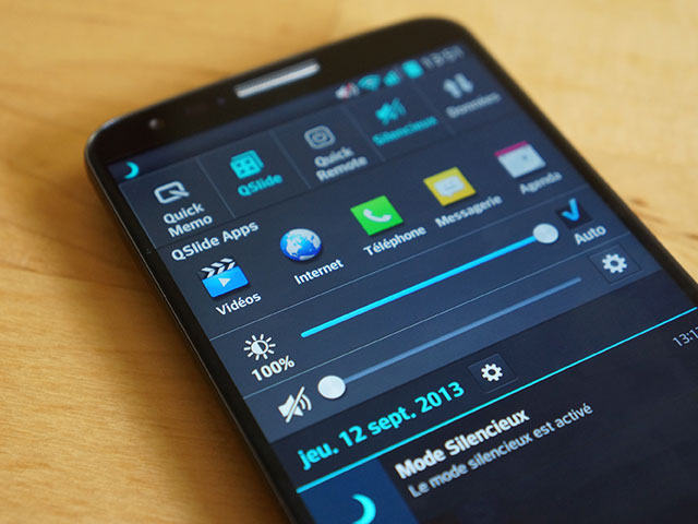 LG G2 : le centre de notifications