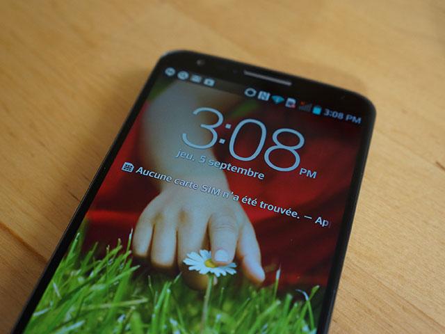 LG G2 : l'écran de verrouillage
