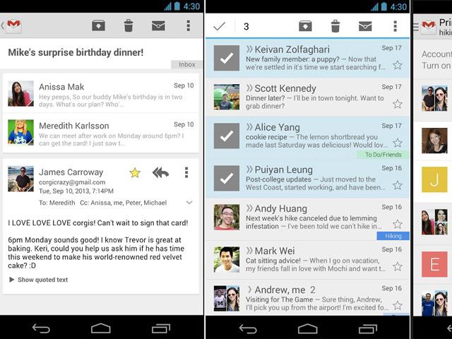 Nouveau Gmail Android