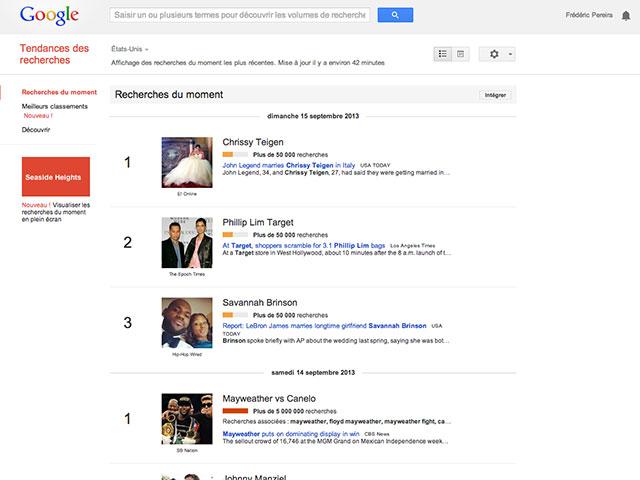 Nouveau Google Trends : capture 2