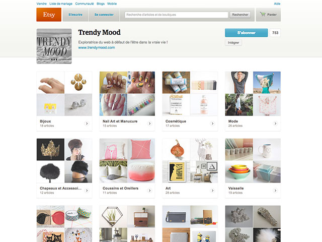 Pages Etsy