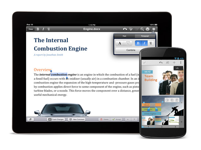QuickOffice gratuit iOS Android