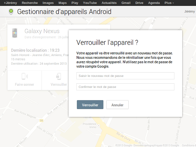Verrouiller son terminal avec Android Device Manager