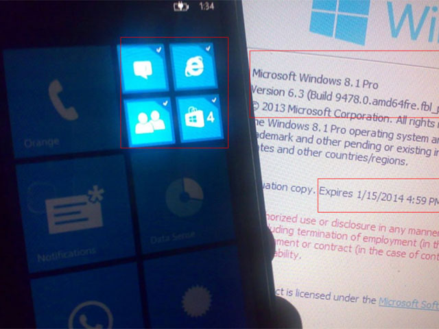 Windows Phone 8.1 : capture 1