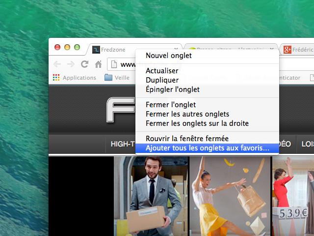 Astuce Chrome onglets