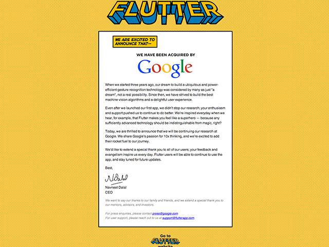 Flutter Google