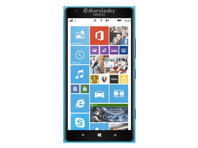 Nokia Lumia 1520 : rendu du modèle cyan
