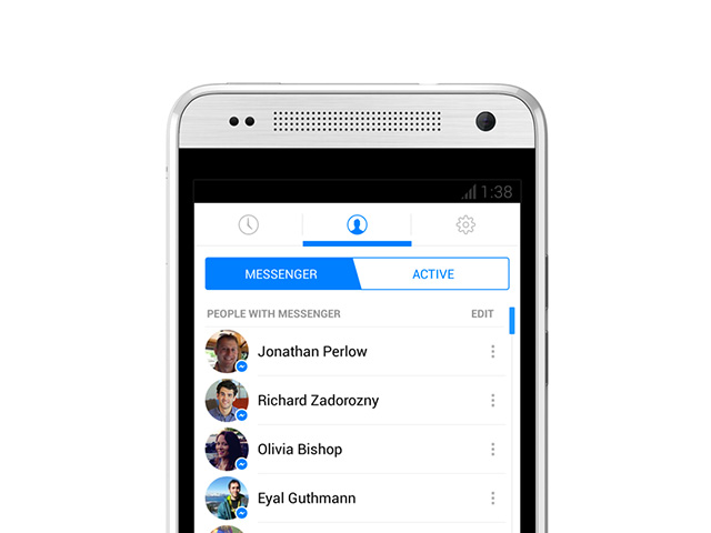 Nouvelle version Facebook Messenger Android : capture 1