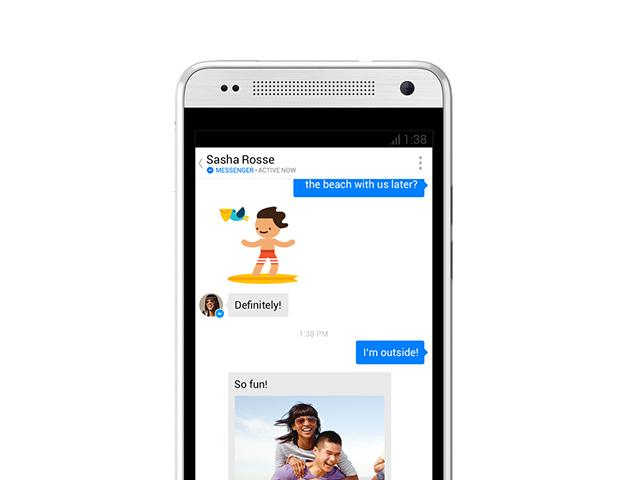 Nouvelle version Facebook Messenger Android : capture 2