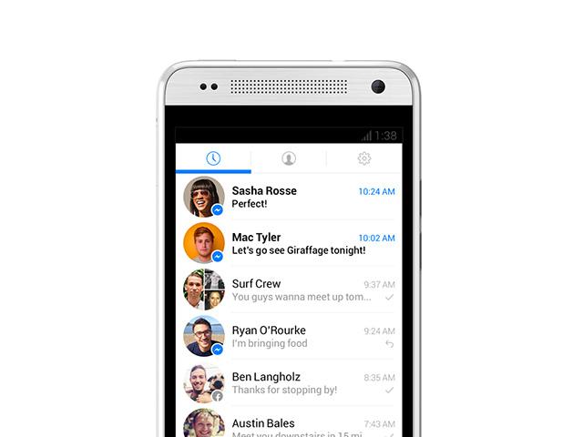 Nouvelle version Facebook Messenger Android : capture 3