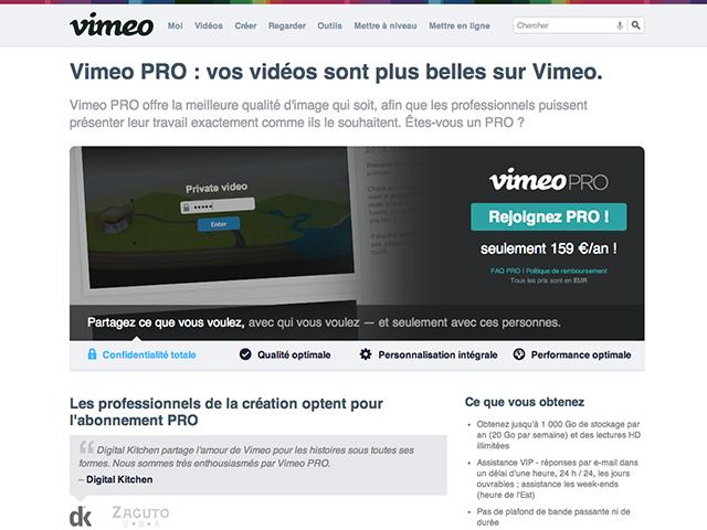 Vimeo PRO oct 2013