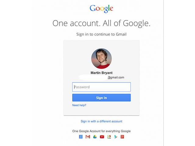 Nouvelle page connexion Gmail : capture 1