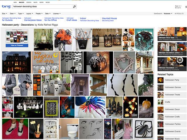 Pinterest dans Bing