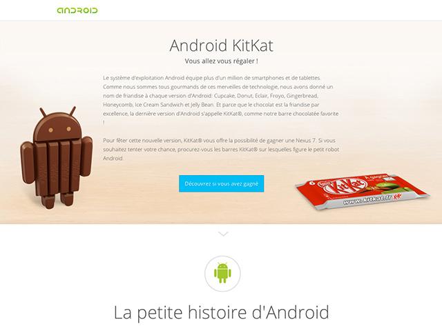 Rumeurs Android KitKat