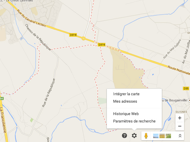 Cartes EMBED Google Maps
