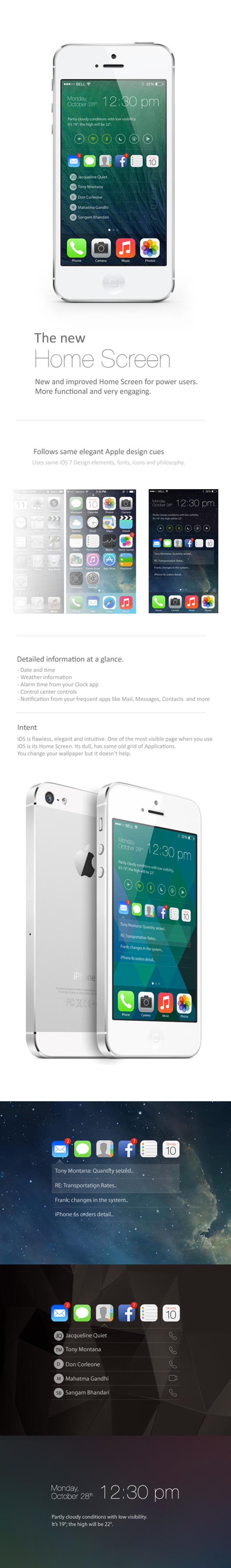 Concept iOS 7 / iOS 8 Full