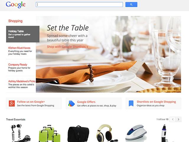 Google Shopping nov2013 : capture 1