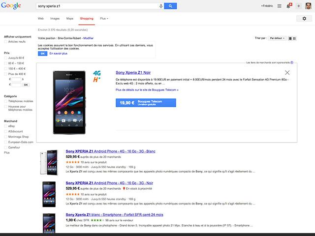 Google Shopping nov2013 : capture 2