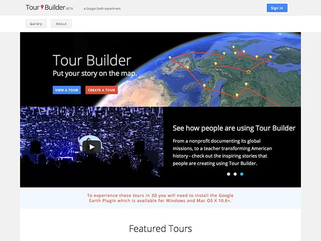 Google Tour Builder : capture 1