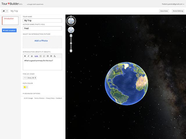 Google Tour Builder : capture 3