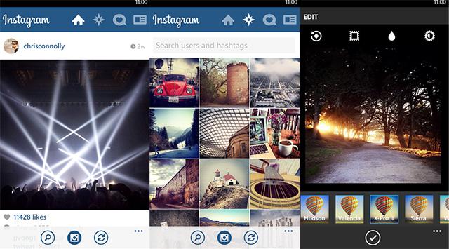 Capture Instagram Windows Phone