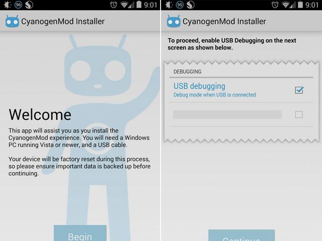 Fin CyanogenMod Installer