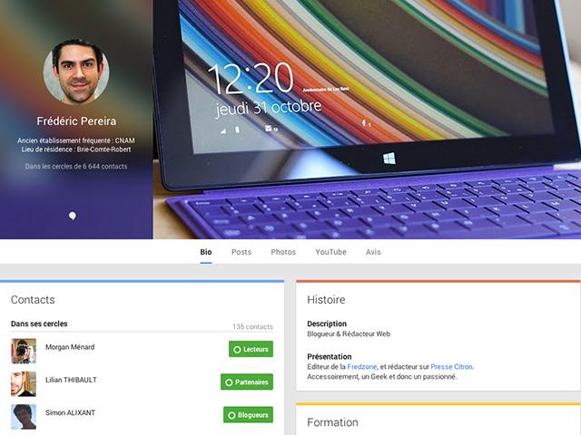 Nouveautés Google+
