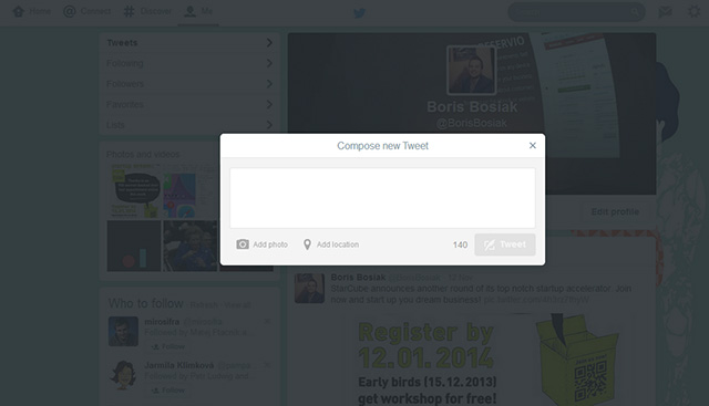Nouvelle version Twitter web : capture 4