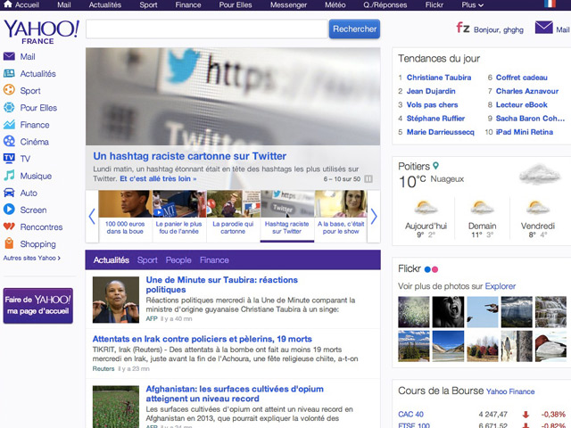 Nouvelle version Yahoo