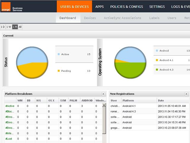 Orange Device Management : capture 1