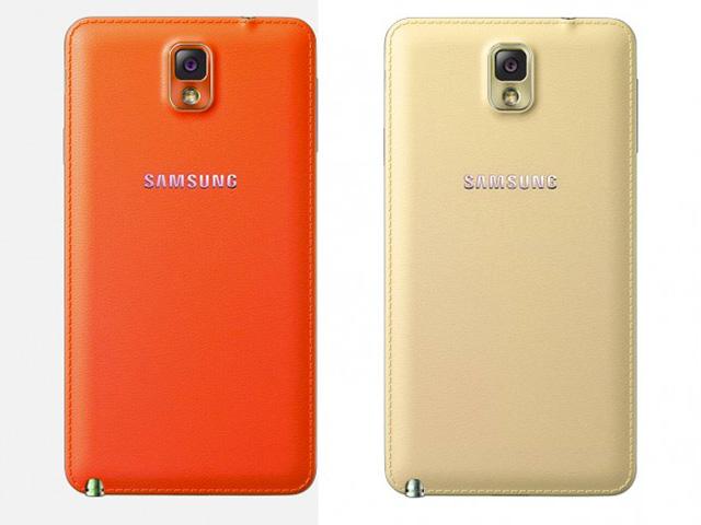 Samsung Galaxy Note 3 rouge & or : rendu 1