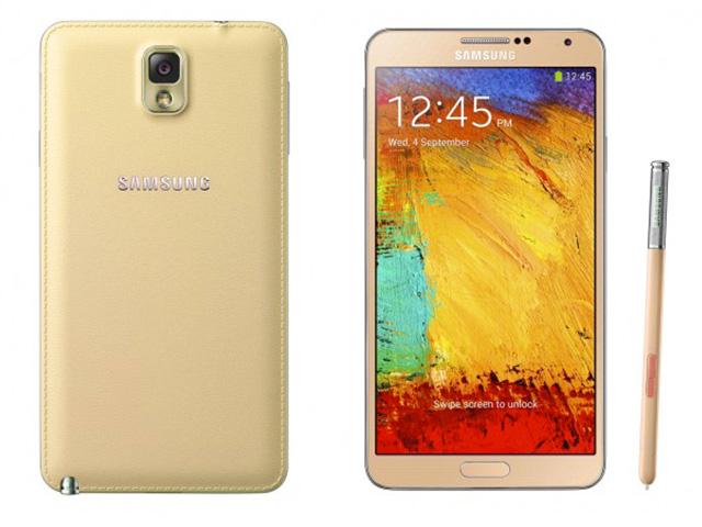 Samsung Galaxy Note 3 rouge & or : rendu 2