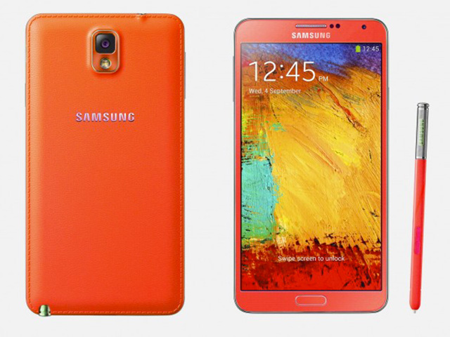 Samsung Galaxy Note 3 rouge & or : rendu 3
