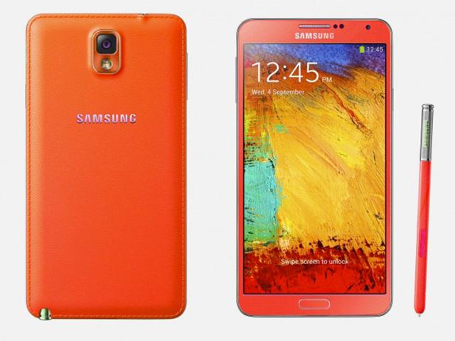 Samsung Galaxy Note 3 rouge & or : rendu 3