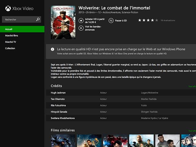 Xbox Video web : capture 3