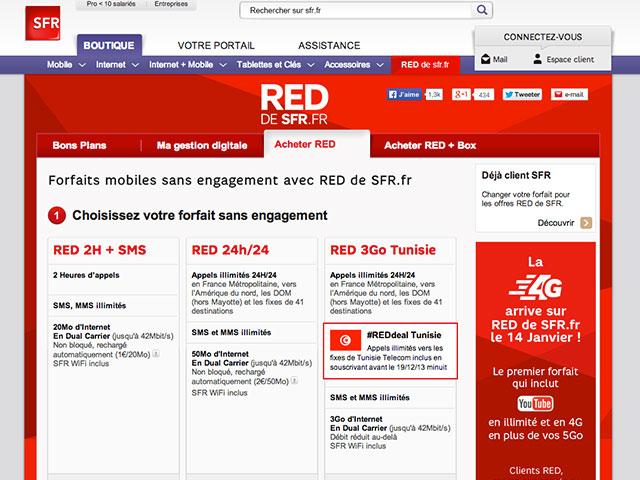 4G SFR RED