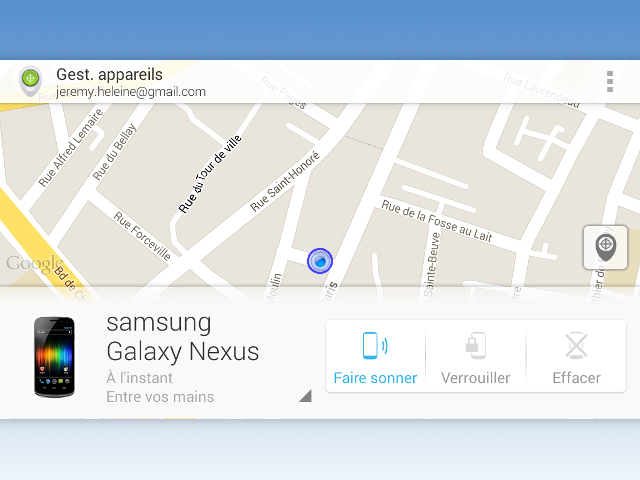Une application mobile pour Android Device Manager